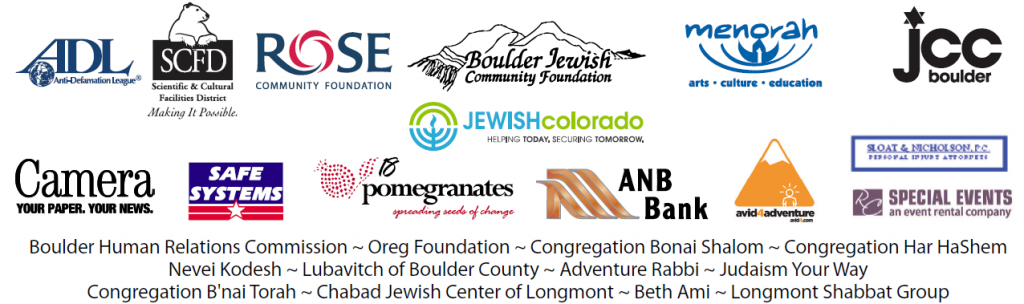 Thank you to the Sponsors of the Boulder Jewish Festival